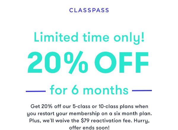 Classpass Coupon Codes Things To Know Before You Buy