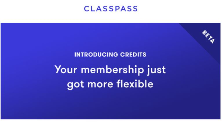 The Only Guide for Classpass Credits